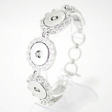 Fits Ginger Snaps SNAP BRACELET Silver Interchangeable Jewelry Snaps 18mm Charm