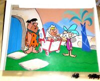 vintage flintstones animation cel hanna barbera original production uncle tex