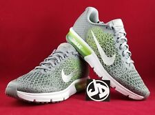 NIKE AIR MAX SEQUENT 2 GS METALLIC SILVER RUNNING ( 869993 003 ) SZ 6Y= WMNS 7.5