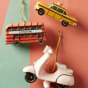 Anthropologie City Transit Ornament-Taxi ONLY