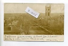 Georgetown MA Mass RPPC real photo birdseye view street, homes, antique postcard