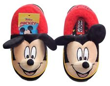 MICKEY MOUSE DISNEY Rubber Bottom Slippers NWT Toddlers Sz. 5-6, 7-8 or 9-10 $20