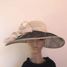Ladies Elegant Organza Formal Race Wedding Melbourne Cup Wide Brim Hat H298