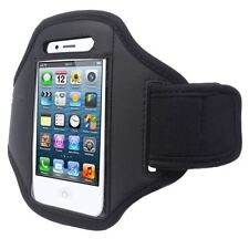 BLACK SPORT GYM JOGGING RUNNING ARMBAND POUCH HOLDER STRAP COVER CASE FOR PHONES