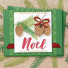 Stanzschablone Kiefernzapfen KIefer Blatt Weihnachten Karte Album Einladung DIY
