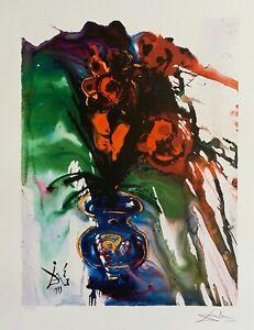 Salvador Dali GALA'S  BOUQUET Limited Edition Facsimile Signed Lithograph Art