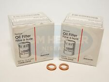 Genuine Nissan Infiniti OEM Oil Filter 15208-65F0E & 11026-JA00A 2 Pack