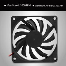 2Pcs DC 12V 2Pins Cooling Fan 80x80mm 3500RPM for PC Computer Case CPU Cooler