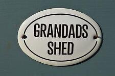 Piccolo ovale smalto metal grandads TETTOIA muro porta segnale Placca Porta Firmare Grandpa