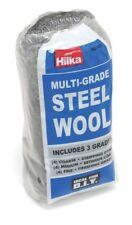 Hilka Multi Grade Steel Wool Supplied in 3 grades: 4 coarse, 4 medium and 4 fine