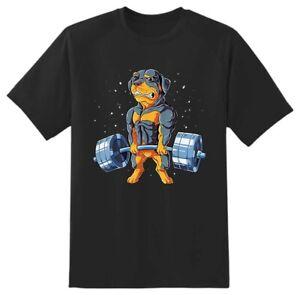 Rottweiler Gym novelty T shirt Adults