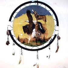 EAGLE WOLF GIRL JUMBO WAR SHIELD 24 INCH gi325 new animals indian dreamcatcher