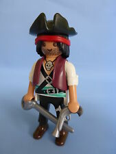 Playmobil Pirate Figure with weapons for ship / boat / island NEW STYLE