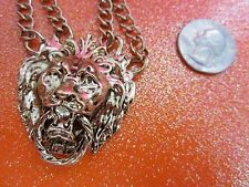 Chunky Gold Tone Lion Necklace