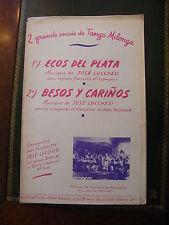 Partition Tango Milonga Ecos del Plata Besos y cariños José Lucchesi