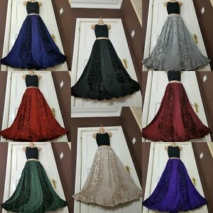 Winter Skirt Velvet Maxi Medieval Party Quality Steampunk Size 12 14 16 18 20 22