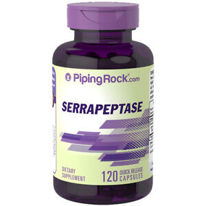 High Potency Serrapeptase 120,000 SPU/ 54 grams 120 Quick Release Caps