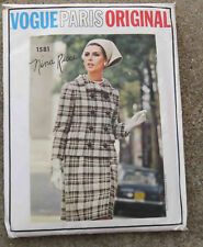 Original 1960s  Vogue Paris Original Pattern 1581 Suit Blouse Nina Ricci FF  32