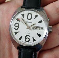 NOS NEW Slava zero, Soviet watch, mechanical watch, white watch, bid zero watch,