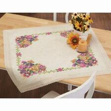 Herrschners® Rich Floral Bouquet Table Topper Stamped Cross-Stitch Kit
