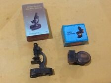 2 Die Cast Metal Collectible Pencil Sharpener Toilet Bowl,Microscope New / Box