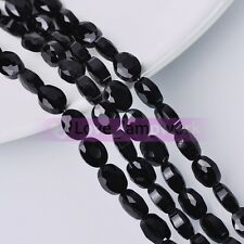 8pcs Flatback Faceted Crystal Glass Loose Spacer Beads Jewelry 12mm 16mm 20mm