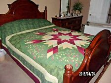 """Twin Evening Star Quilt Bedspread 96"""" x 110"""" from blair"""