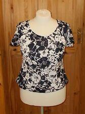 ROMAN black ivory floral monochrome chiffon short sleeve wedding tunic top 16 44