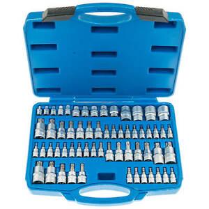 Innen Torx Nüsse Set Steckschlüssel Satz Werkzeug 60-tg. Steck Nuss 1/4 1/2 Zoll