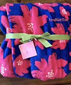 Vera Bradley Throw Blanket ART POPPIES PINK Breast Cancer Awareness RARE New HTF