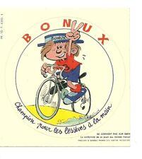 AUTOCOLLANT - BONUX LESSIVE : SPONSOR DU TOUR DE FRANCE CYCLISME VELO / STICKERS
