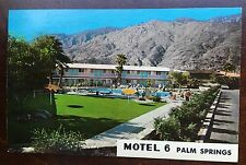 Vintage 1960's picture Post Card From PALM SPRINGS CA ~MOTEL 6 ~ Unposted