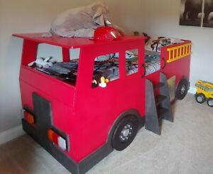 Fire Truck Bed PLANS ONLY (pdf format), Create a Fireman Themed Bedroom