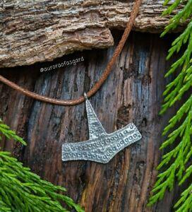 Viking Rømersdal Thors Hammer, Mjolnir Pendant, Necklace, Norse Gift, Pagan