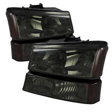 Chevy 03-06 Silverado / Avalanche Smoke Lens Replacement Bumper Headlights