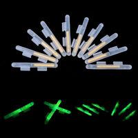 20Pcs Fishing Fluorescent Lightstick Light Night Float Rod Dark Glow Stick M&R
