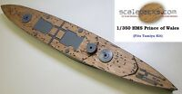 Wood Deck for 1/350 HMS Prince of Wales (fits Tamiya kit) by Scaledecks [LCD-39]