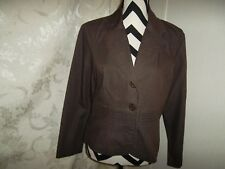 Courtenay size 10 brown long sleeve blazer
