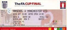 Arsenal Football FA Cup Fixture Tickets & Stubs