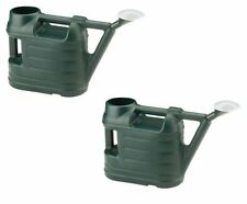 2 x Garden Watering Can With Rose 6.5 Litre - Green