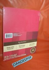 Recollections 65 LB Cardstock Paper Shades Of Red Sealed 179183 8.5x11 50 Sheet