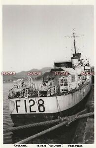 """Photograph Royal  Navy. HMS """"Wilton"""" Destroyer. Breakup Faslane. WW11 Fine! 1960"""