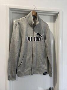 Puma Track Top Grey With Large Black Logo M
