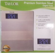 Taylor Premium Stainless Steel Digital Scale Accurate to 400 lbs 7411