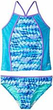 Speedo Girls Rhythmic Tie Dye Tankini Two Piece Swimsuit, Blue, Size 10