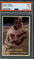 1957 topps Hank Aaron #20 PSA 5 very high end for grade