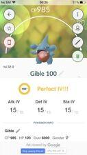 Pokemon Go Gible Griknot 🔥 PERFECT 100% IV 🔥 Read Desc ✅