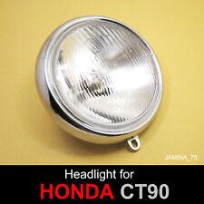 """Honda Trail 90 CT90 K2 - K6 1970 - 1979 6"""" Headlight Head Lamp 6 V. Bulb + Rim"""