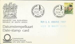MARION ISLAND SOUTH AFRICA ANTARCTIC DATE STAMP CARD 1978 PENGUIN CATCHET