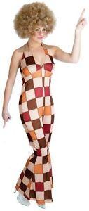 Ladies Disco Diva Women Jumpsuit Official Fancy Novelty Maxi Dress UK 6 to 8
